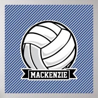 Volleyboll-, blått- & vitrandar, sportar
