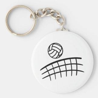 Volleyboll förtjänar boll rund nyckelring