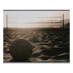 Volleyboll i sanden print