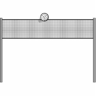 Volleyboll och netto prydnad
