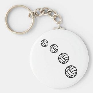 Volleybollar Rund Nyckelring