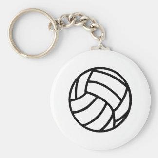 Volleybollboll Rund Nyckelring