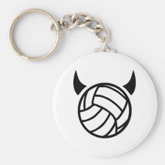 Volleybolldjävulen Rund Nyckelring
