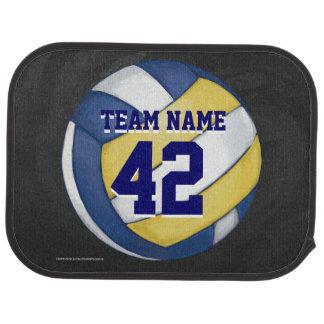 Volleybolllagnamn och numrerar golvmatta bil