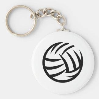 Volleybolllogotyp Rund Nyckelring