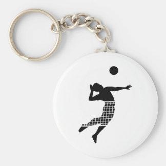 Volleybollspelare förtjänar rund nyckelring