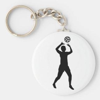 Volleybollspelare Rund Nyckelring