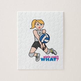 Volleybollspelare - tända/blondinen pussel