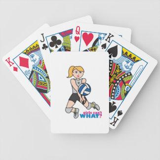 Volleybollspelare - tända/blondinen spelkort