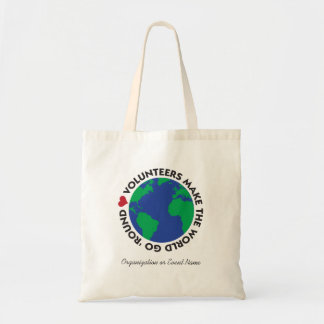 Volontärer gör världen att gå 'rundan med jord tygkasse