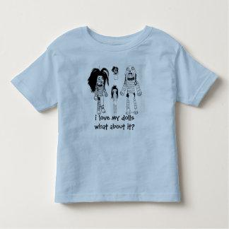 Voodoo småbarnT-tröja, blått som jag älskar min T Shirts