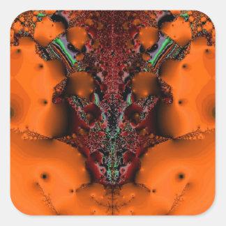 Voodooande Fyrkantigt Klistermärke