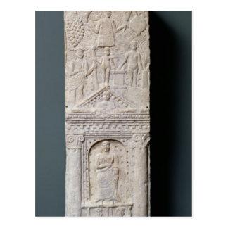Votive stela som är hängiven till Saturn Vykort