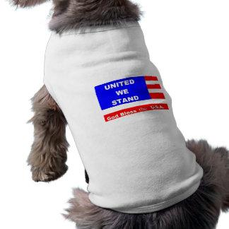 Vovvetröjajacka - välsigna dig USA Hundtröja