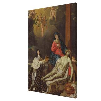 Vowen av den Louis XIII kungen av frankriken och Canvastryck