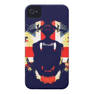 Vråla den underbara brittiska lejona fackliga Case-Mate iPhone 4 fodraler
