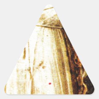 Vrede vid Giotto Triangelformat Klistermärke
