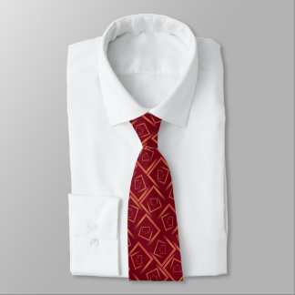 vrida ombre kvadrerar mosaikmönster på burgundy slips