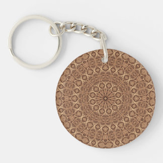 Vriden repakryl Keychains, 6 stilar Dubbelsidigt Rund Akryl Nyckelring