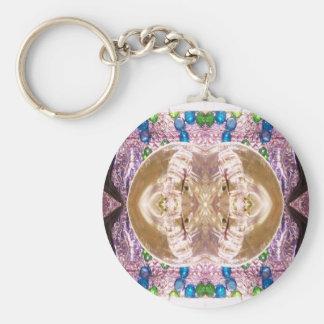 Vridet exponeringsglas som matchar vigselringar rund nyckelring