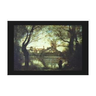 Vue de Mantes', Jean-Baptiste Camille_Landscapes Canvastryck