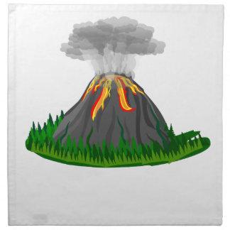 vulkan avfyrar utbrott tygservett