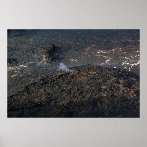 vulkan för ö för kilaueaikikrater stor affisch