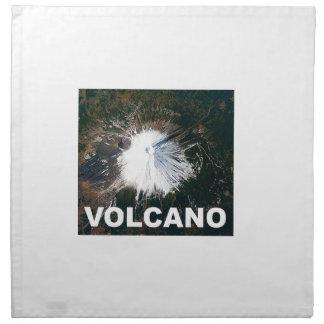 vulkan från över tygservett