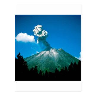 Vulkan som får utbrott Costa Rica Vykort