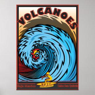 Vulkaner Baja Mexico Cabo San Quintin Poster