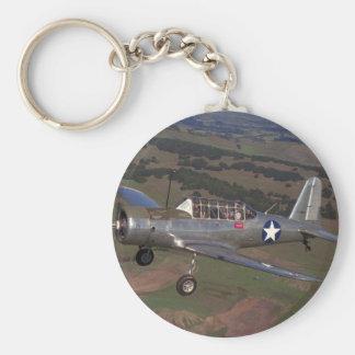 Vultee BT-13, WWII_Classic flyg Rund Nyckelring