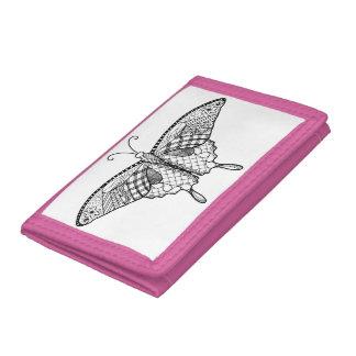 Vuxen färgläggningfjärilsplånbok