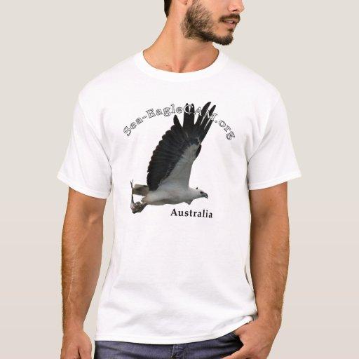 Vuxen Hav-Örn för fiske T-tröja T Shirts