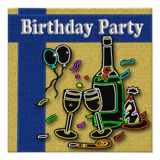 Vuxna födelsedagsfest inbjudan