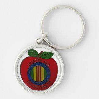VVA Apple 1019 Keychain Rund Silverfärgad Nyckelring