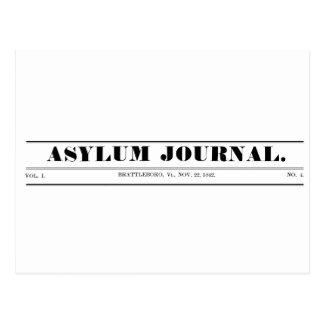 Vykort 1842 för asyljournalMasthead