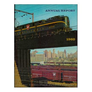 Vykort 1960 för Pennsylvania järnvägårsrapport