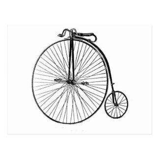 Vykort - antik cykel