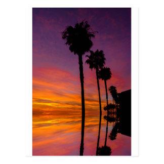 Vykort Carlsbad, Kalifornien solnedgång