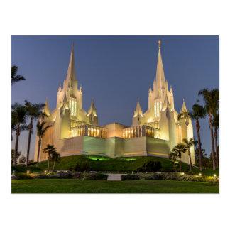 Vykort: Den San Diego LDS tempelaftonen avbildar Vykort