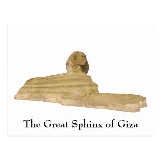 Vykort: Den underbara sphinxen av Giza Vykort