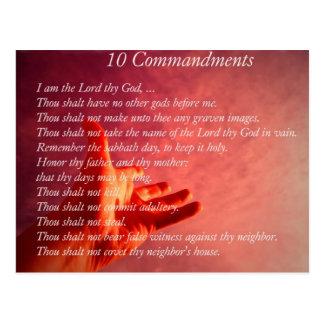 Vykort för 10 Commandments