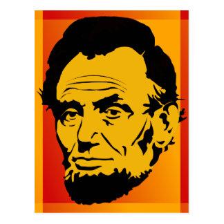 Vykort för Abraham Lincoln Retro popkonst