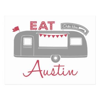 Vykort för Austin Texas matlastbil