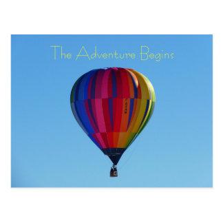 Vykort för back to schooläventyrluftballong vykort