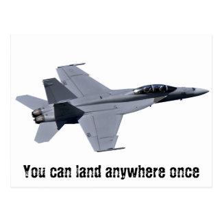 Vykort för bålgeting för US-marin F-18 toppen