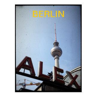 Vykort för Berlin Alexander Platz TVtorn