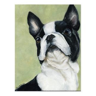 Vykort för BostonTerrier original- hundkonst