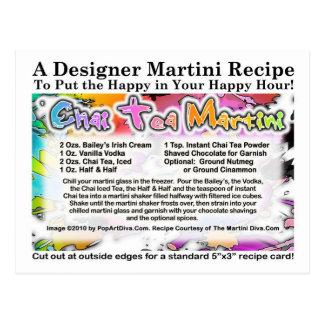 Vykort för Chai TeaMartini recept