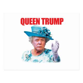 Vykort för Donald Trump drottningtrumf